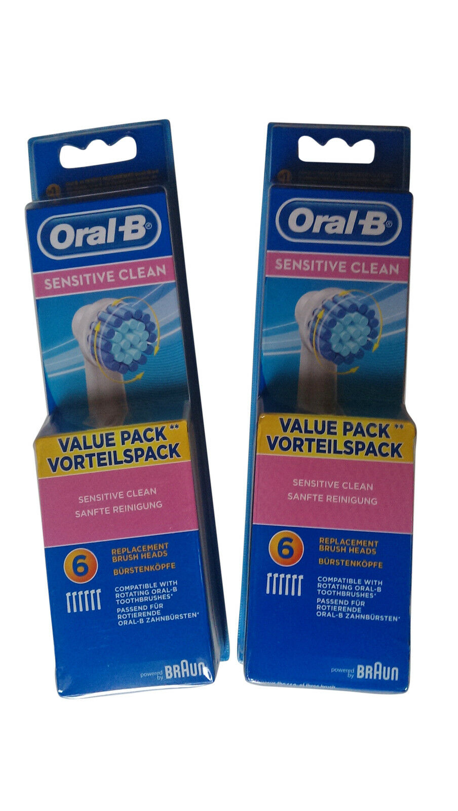 12 braun oral b sensitive clean aufsteckb rsten b rstenk pfe ersatzb rsten oralb eur 29 85. Black Bedroom Furniture Sets. Home Design Ideas