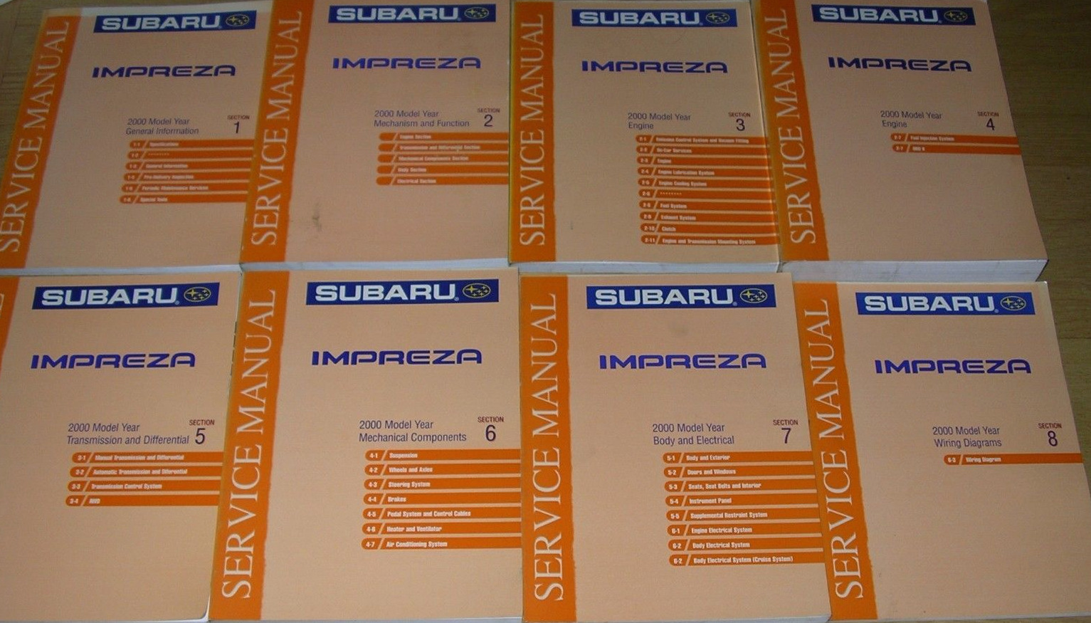 2000 Subaru IMPREZA Service Repair Shop Workshop Manual Set OEM Factory 1  of 1Only 1 available ...
