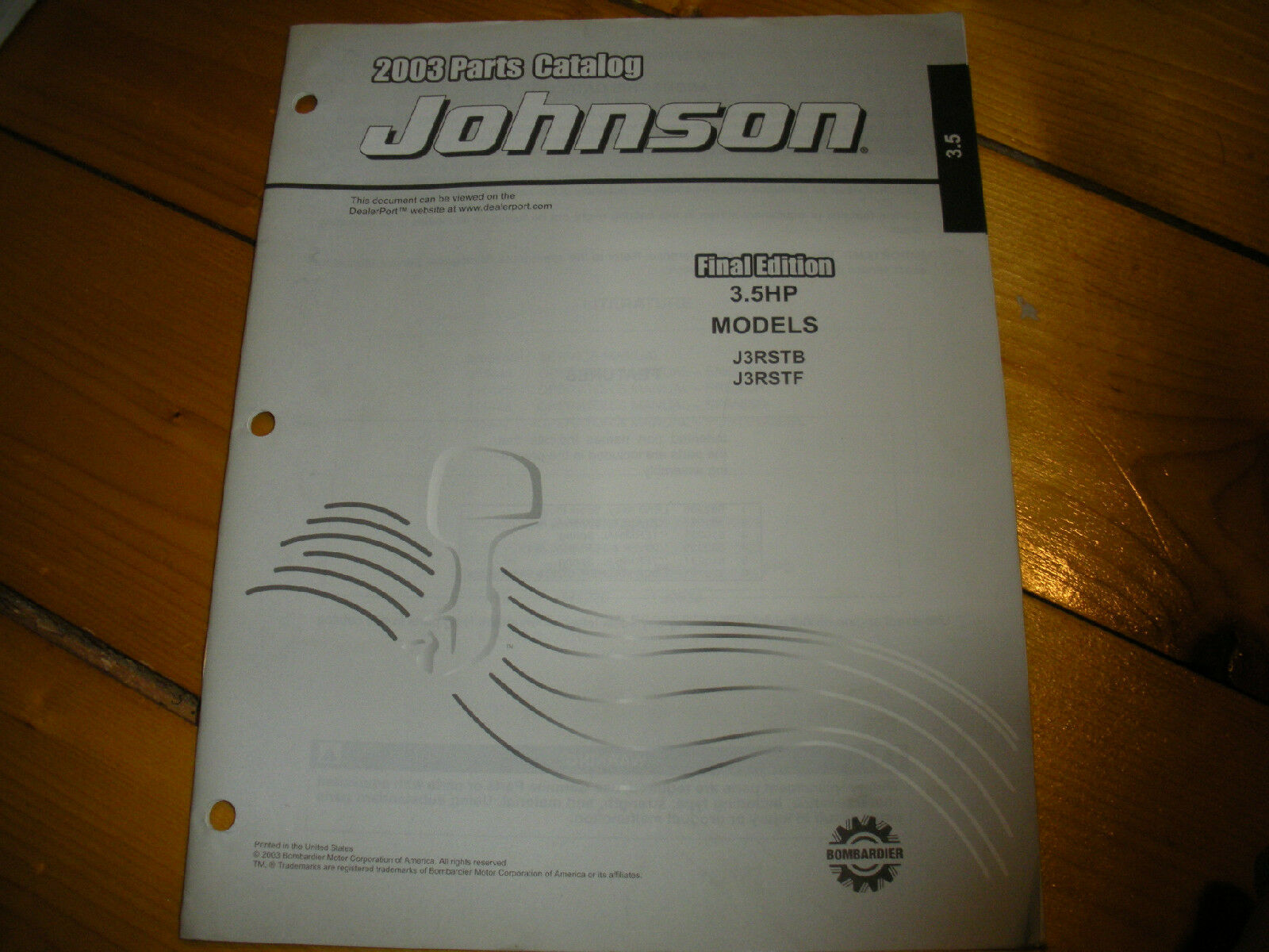 JOHNSON outboard 3.5, 2003 parts catalog 1 of 1Only 1 available ...