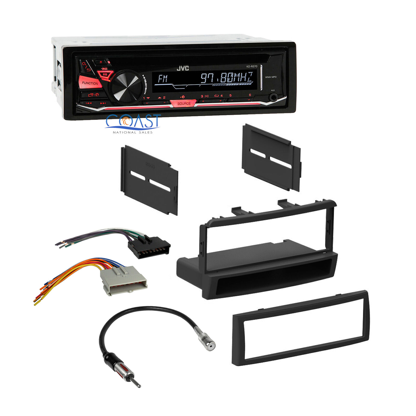 JVC Radio Stereo Dash Kit Wiring Harness for 98 -04 Ford Focus Mercury  Cougar 1 of 5FREE Shipping ...
