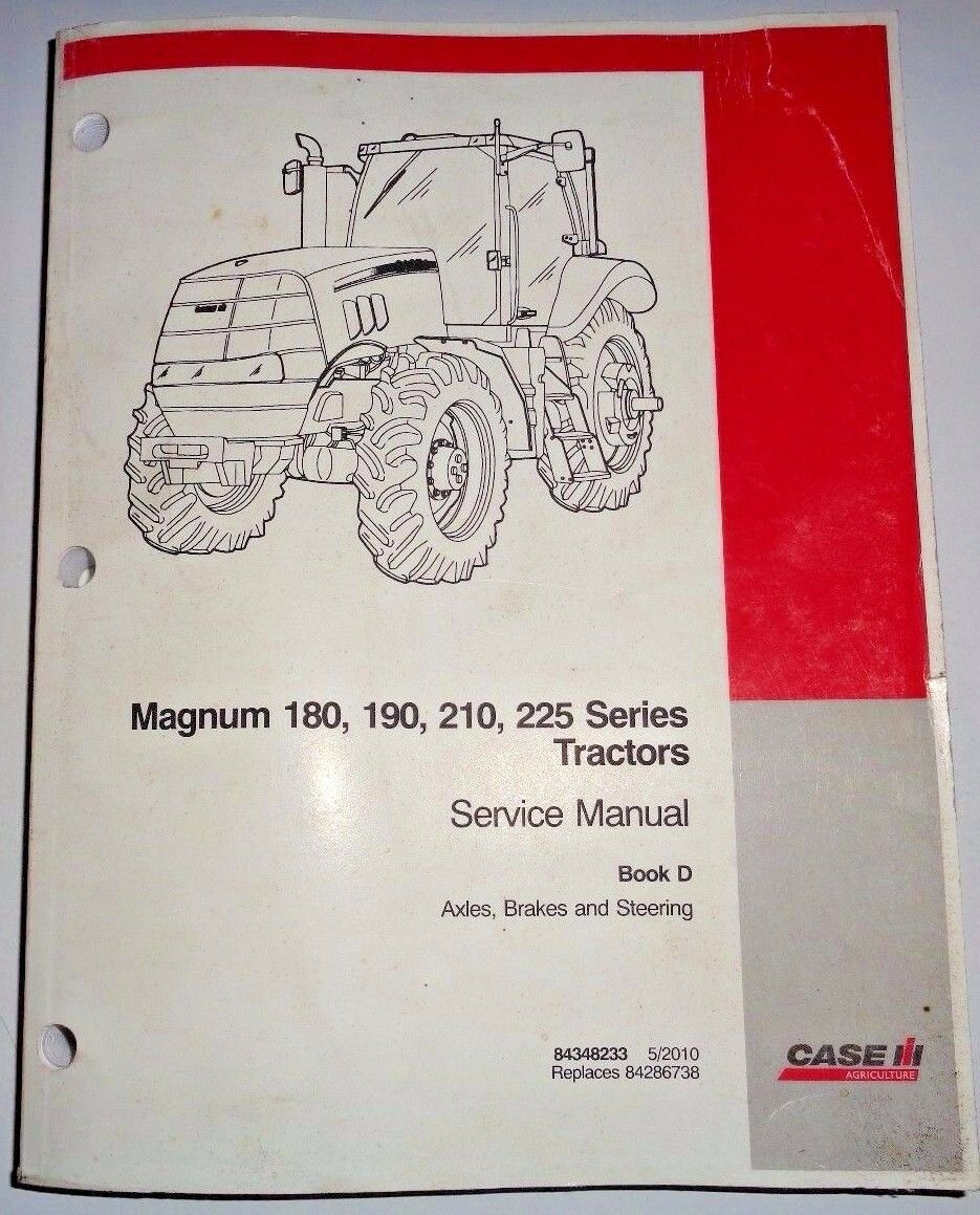 "Case IH Magnum 180 190 210 225 Tractor ""AXLES BRAKES & STEERING"" Service  Manual 1 of 1Only 1 available See More"