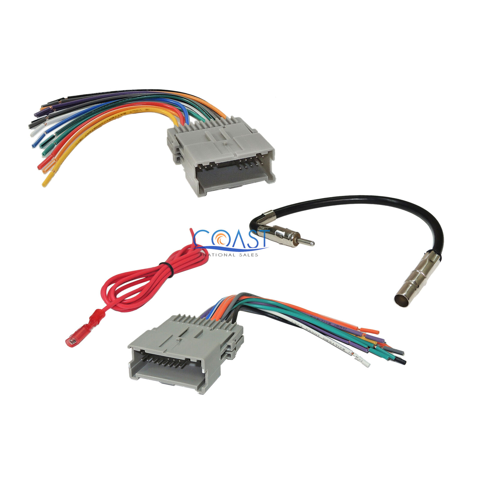 Gm Car Radio Stereo Wiring Harness Antenna Combo For 1992 Up Chevy Automobile 1 Of 4free Shipping