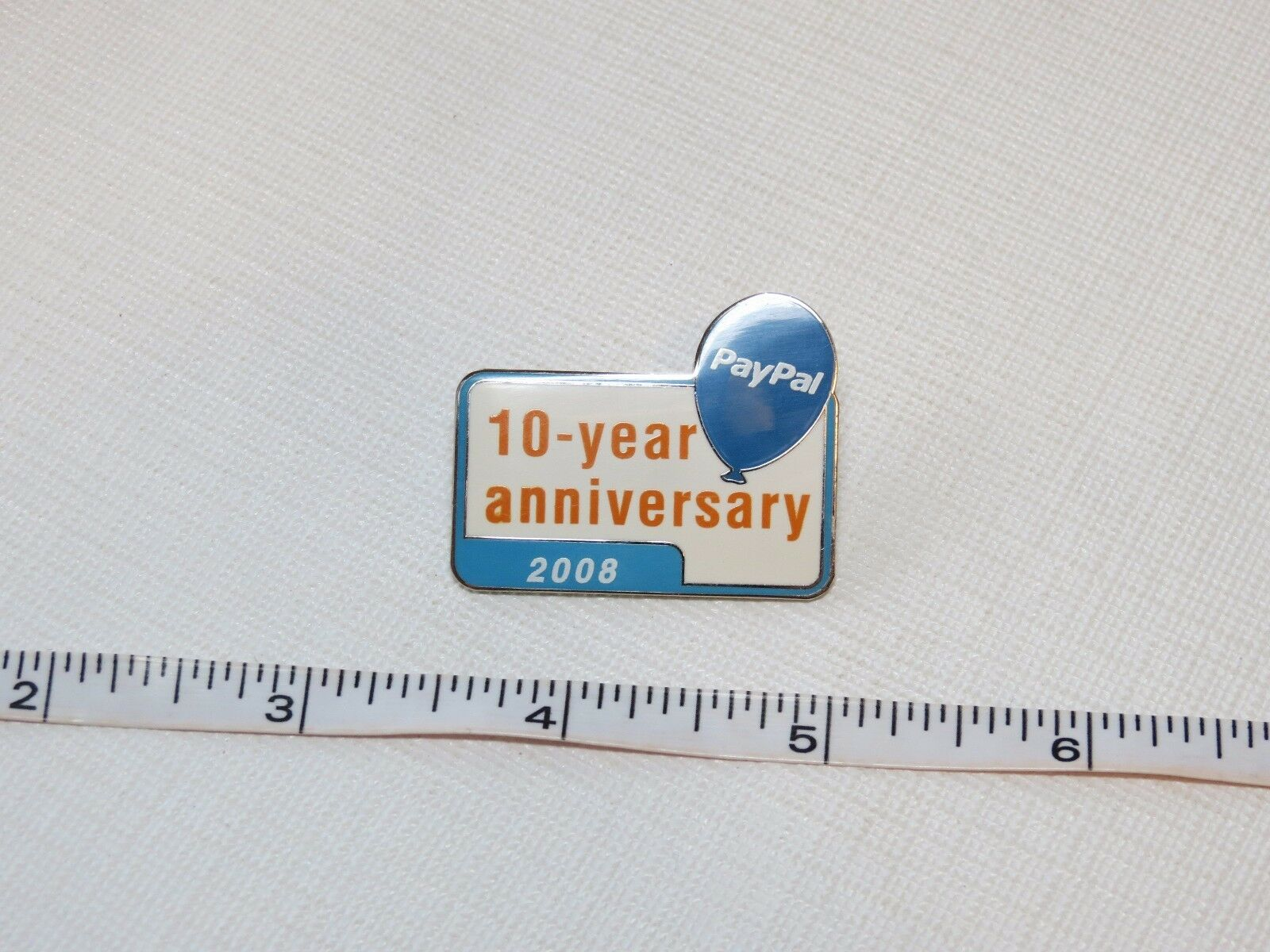 paypal pin 10 year anniversary 2008 pp rare collectible. Black Bedroom Furniture Sets. Home Design Ideas
