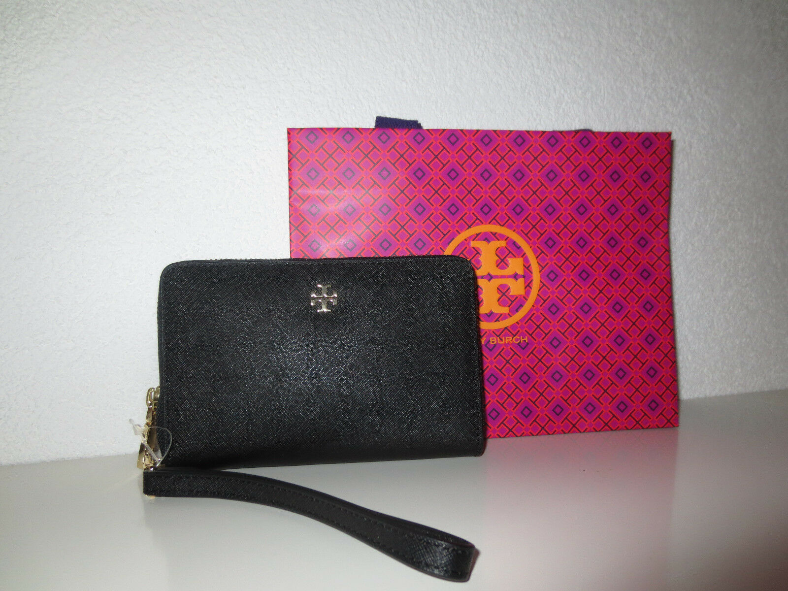 tory burch geldb rse york schwarz phone case portemonnaie wallet geldbeutel eur 69 00. Black Bedroom Furniture Sets. Home Design Ideas