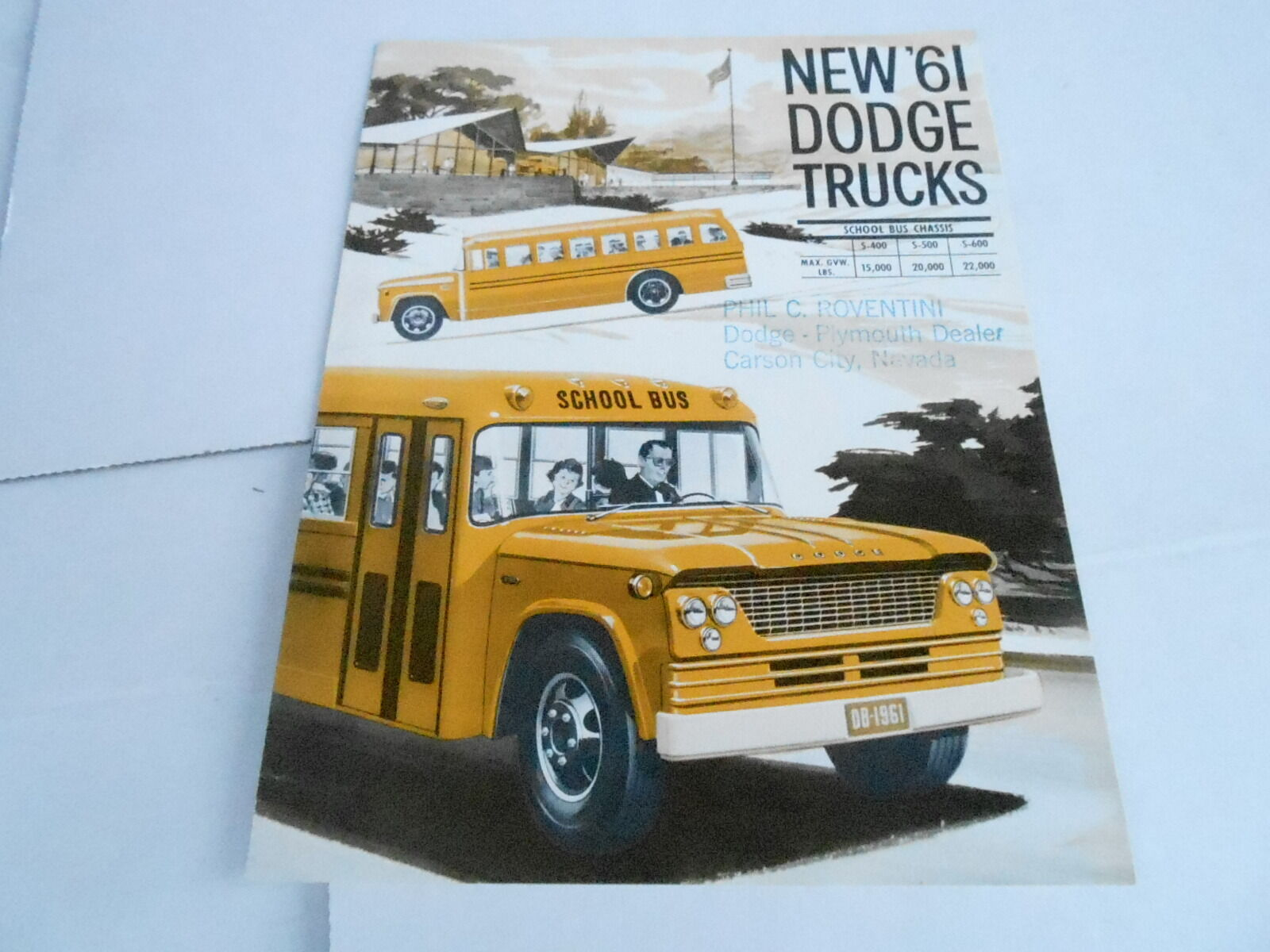 1961 Dodge Truck Brochure Catalog School Bus 1500 Picclick Pickup 1 Of 1only Available