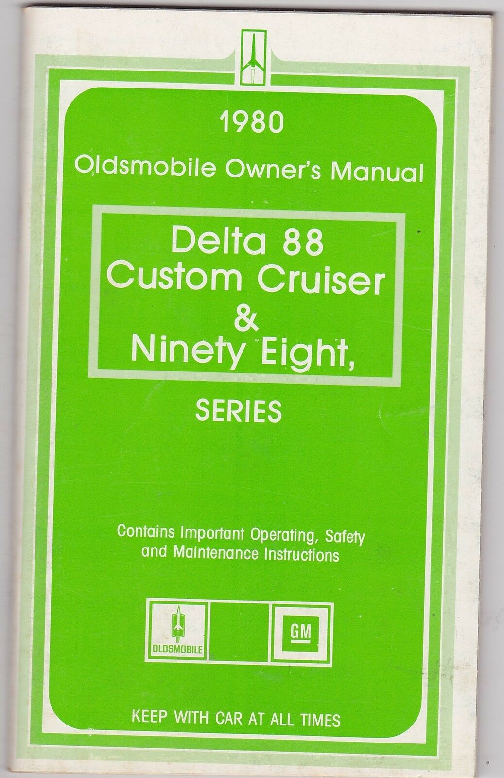 1980 OLDSMOBILE DELTA 88 - NINETY EIGHT vintage original car owners manual  1 of 1Only 1 available ...
