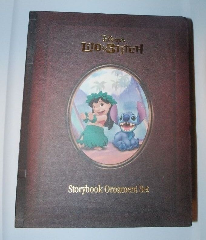 RARE Disney Storybook Ornament Set LILO AND STITCH Christmas Vintage Limited ED