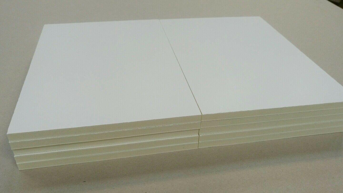 Foamboard 10 Mm A4 10 Sheet Pack White Foam Core Board