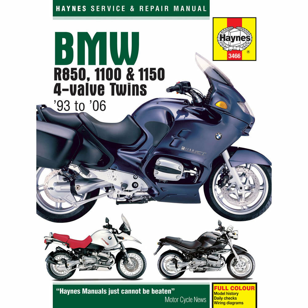 BMW R850 R1100 R1150 4-Value Twins 1993-2006 Haynes Workshop Manual 1 of  1FREE Shipping ...