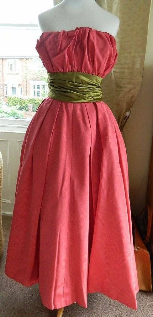 ORIGINAL 1940\'S OR early 1950\'s Doree Leventhal evening dress / ball ...