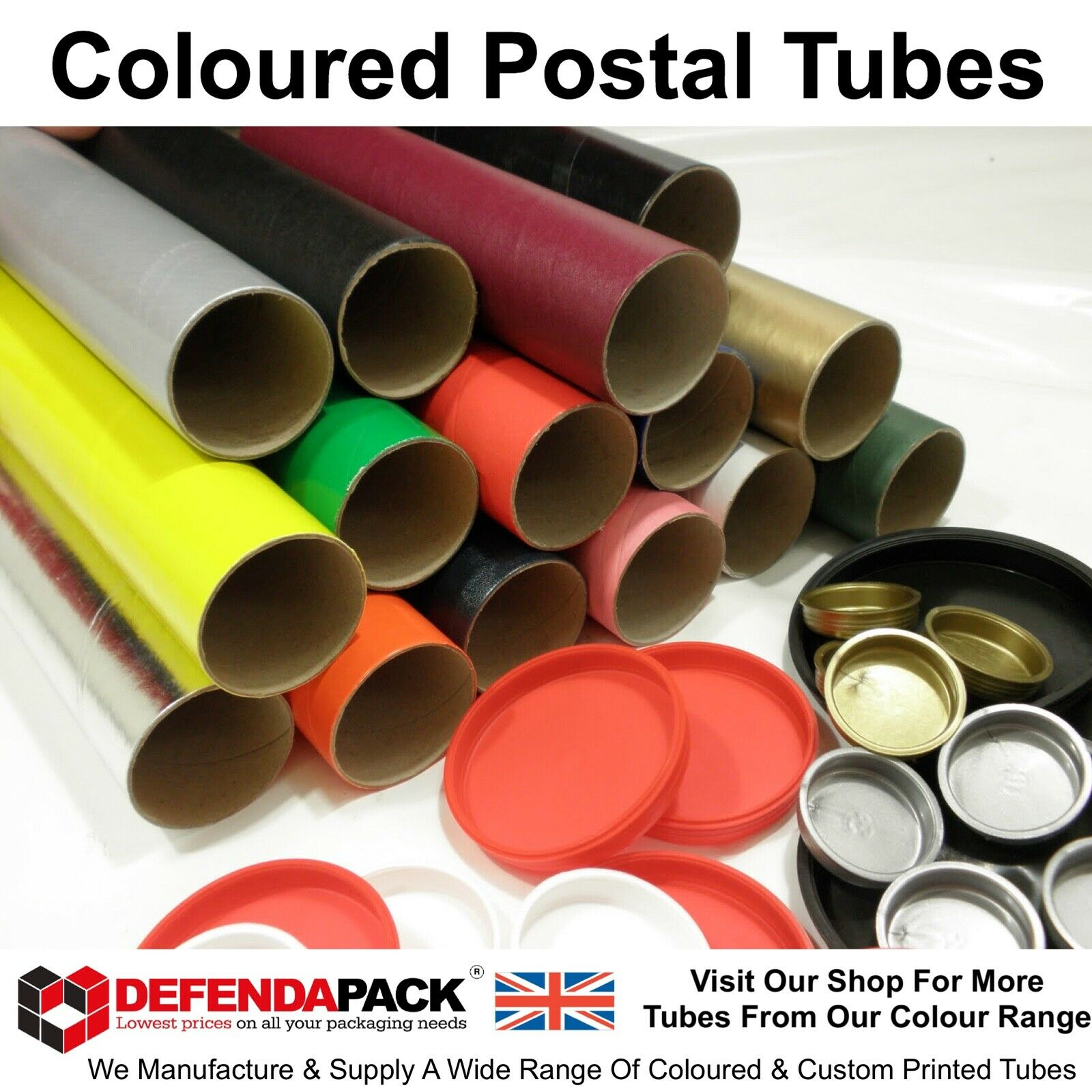 "80 x 22/"" 560mm Long 3/"" 76mm DIAMETER POSTAL TUBES Posting Posters Prints MAILING"