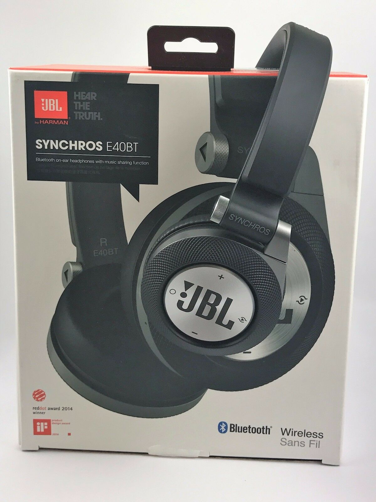 jbl synchros e40bt wireless bluetooth on ear stereo. Black Bedroom Furniture Sets. Home Design Ideas