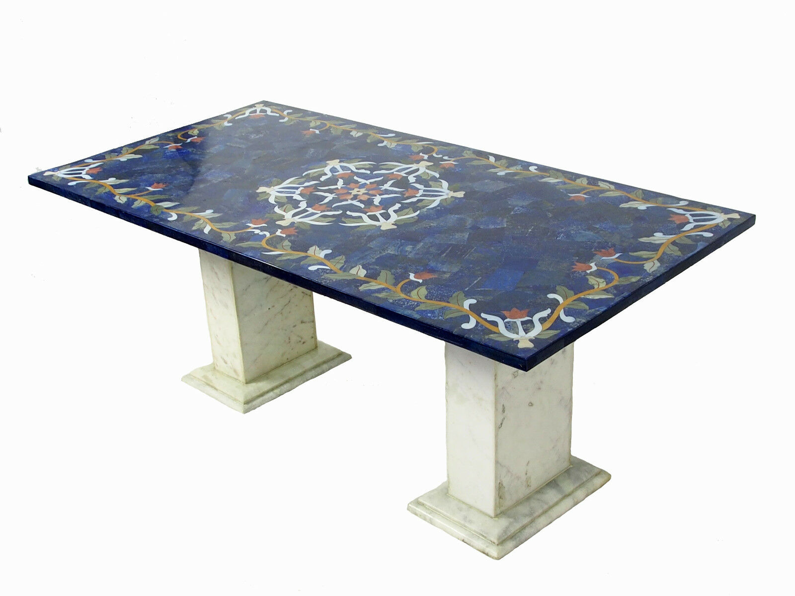 120x60 cm lapis lazuli pietra dura couchtischtisch mosaik table wohnzimmertisch eur. Black Bedroom Furniture Sets. Home Design Ideas