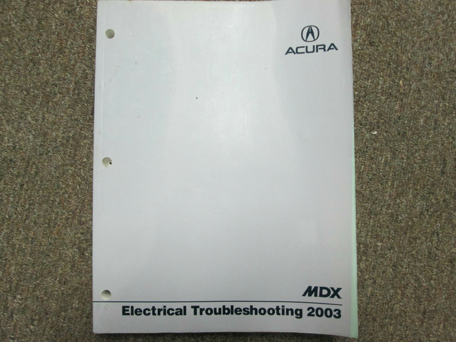 Acura Mdx Electrical Wiring Diagram Troubleshooting Manual
