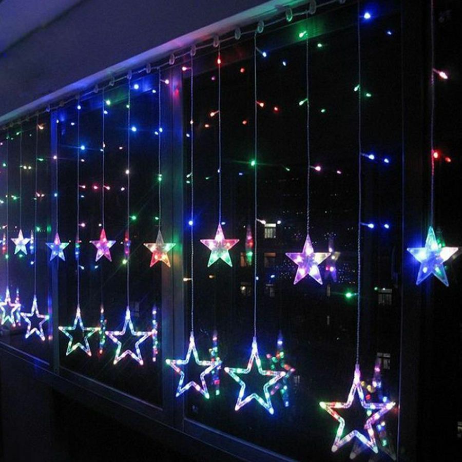 2m star weihnachtsbeleuchtung fee lichterketten fenster. Black Bedroom Furniture Sets. Home Design Ideas