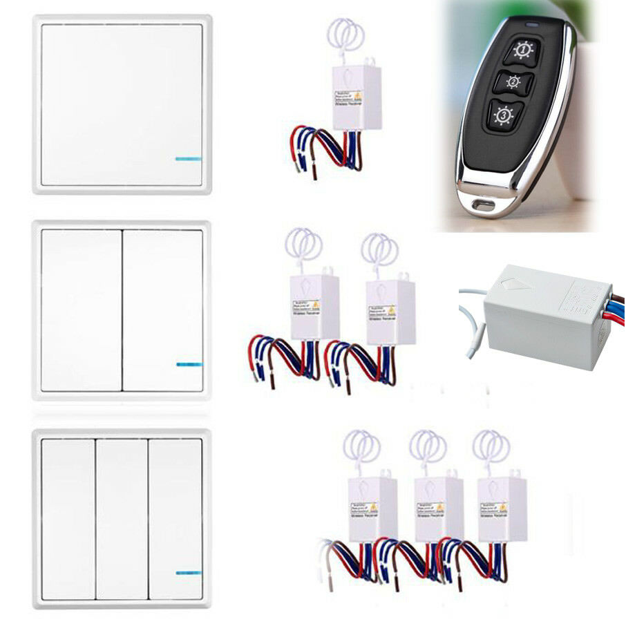 Wireless Smart Lamp Light Wall Switch Home 1 2 3 Way On Off Remote Control Of 8free Shipping