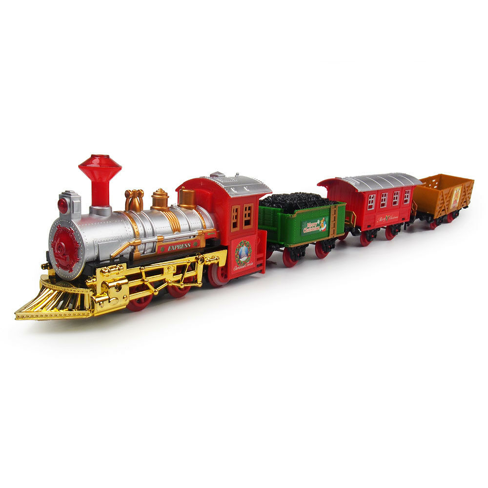 THE CLASSIC JR Battery Operated Christmas Tree Kids Toy Train Set ...