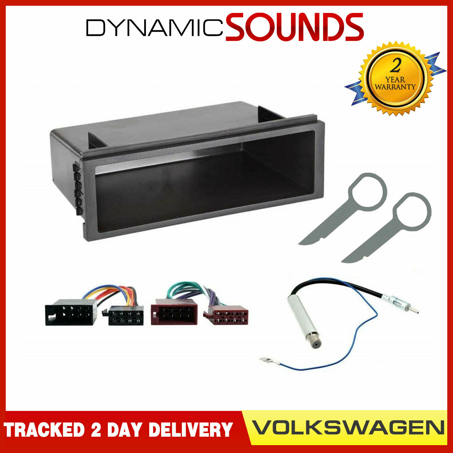 Car Cd Stereo Fitting Kit Wiring Harness Iso Aerial Adaptors Vw Golf Mk4 Mkiv Adaptor Panel Plate Fascia Facia 1 Of 2free Shipping See More