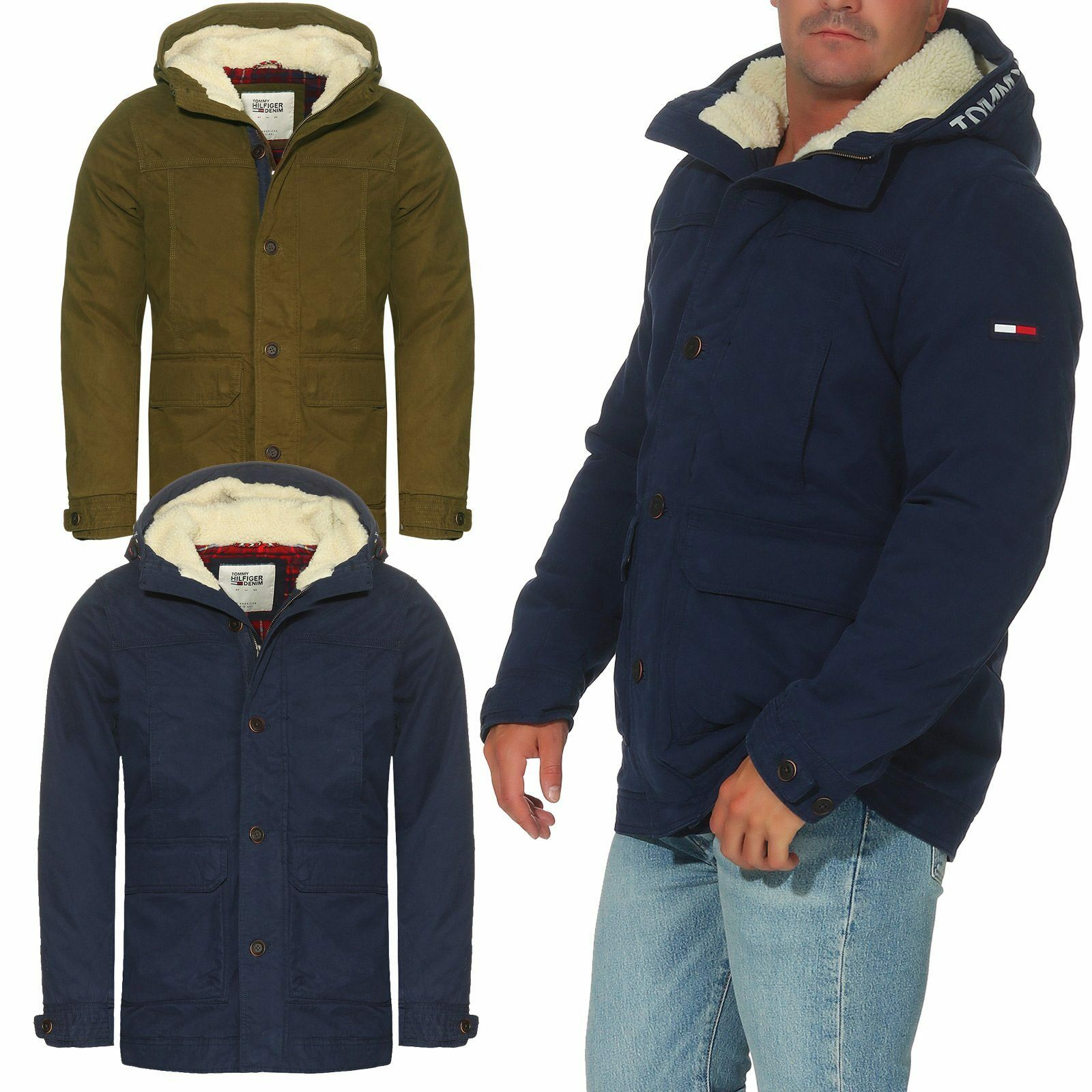 tommy hilfiger denim herren jacke parka winterjacke gr s. Black Bedroom Furniture Sets. Home Design Ideas