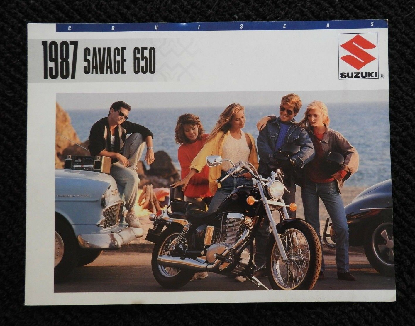 1987 Suzuki Savage 650 Motorcycle Sales Brochure Very Nice Shape Wiring Harness 79 Kawasaki Ke250 1 Of 6only Available