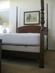 Bombay Co Mahogany Finish Queen 4 Poster Bed Frame eBay