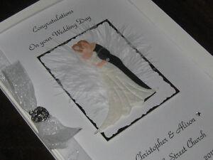 Personalised Handmade Wedding Card Luxury Boxed eBay