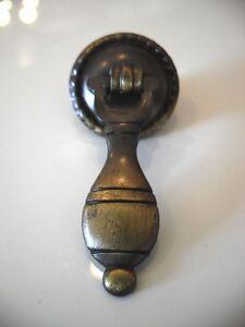 Vintage NOS Drop Door Pulls Antique English finish Knobs Drawer