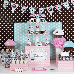 Cupcake Bridal Baby Shower Sweet 16 Birthday Theme Mod Party