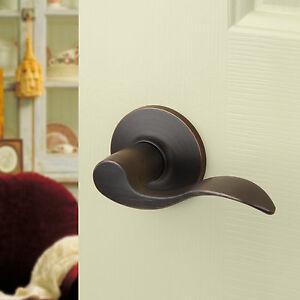 Aged Oil Rubbed Bronze Passage Door Hardware Knob Lever eBay