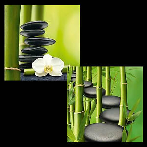 Komplett Neu Design Team: Bamboo Stones Glas-Bilder 30x30 Eurographics Deco Blumen KL15