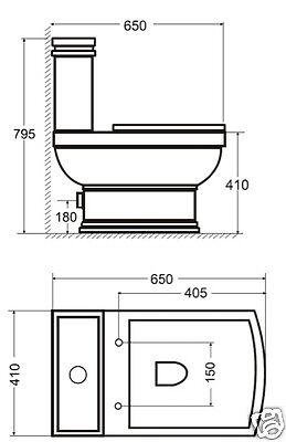 nostalgie retro classic wc toilette stand komplett set mit sp lkasten keramik ebay. Black Bedroom Furniture Sets. Home Design Ideas