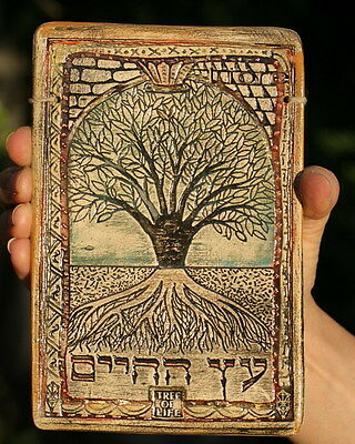 Tree of Life with longevity blessing - Kabbalah Judaic Art