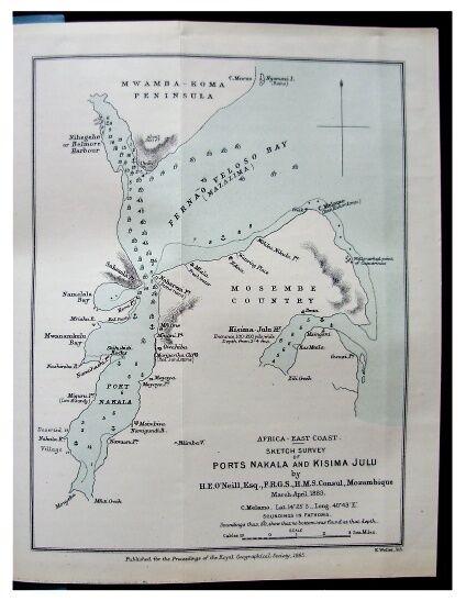 1885 ONeill FERNAO VELOSO BAY NACALA Mozambique Coast COLOR