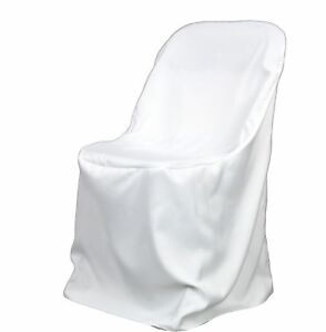 100 White Poly Folding Chair CoversNEW Wedding eBay