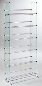 TransDeco Glass CD DVD Rack Stand 6 CDDVD Shelves 336 CD 234 DVD
