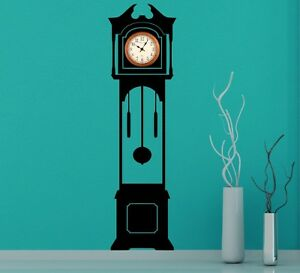 Large Grandfather Clock Silhouette Wall Stickers Clock Background