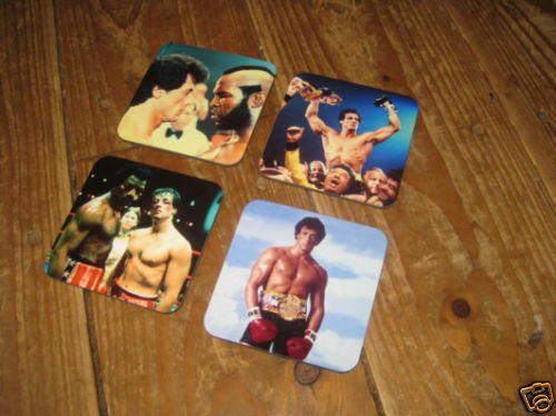 Rocky Sylvester Stallone Drinks Coaster Set