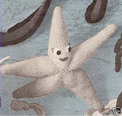 Starfish Stuffed Sea Animal Baby Toy Knitting Pattern
