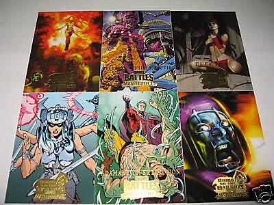 2008 MARVEL MASTERPIECES 3 MINI MASTER SET: Base and Marvel Knights (Bronze) Set