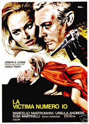 The 10th victim Marcello Mastroianni movie poster