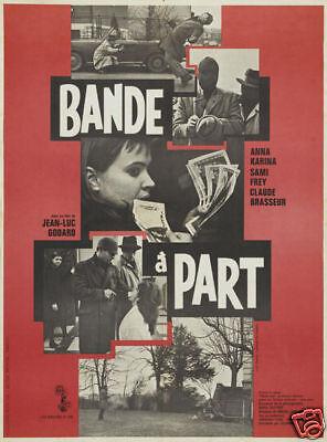 Bande a part Jean Luc Godard cult movie poster print