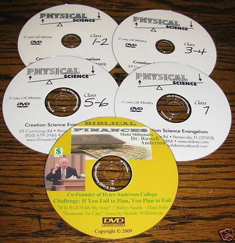 DVD+FREE 4 Hovind Home School Physical Science Set NEW
