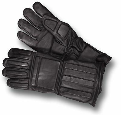 1 PAIR GENUINE POLICE ISSUE GAUNTLETS FLEECE-LINED GLOVES LARGE UK MADE [01036]