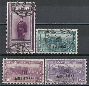 Egypt-stamps-1926-YV-104-107-CANC-VF