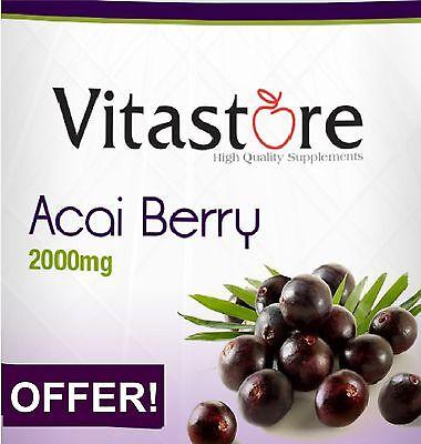 Acai Berry 2000mg, 30+30=60, RAPID DIET PILLS, BUY 1 GET 1 FREE!!!!! UK BEST