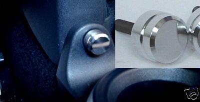 Smart fortwo 450 / Aluminium-Knöpfe für Flaschenhalter /CD in gebürst o. poliert