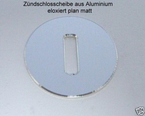 Smart fortwo 450 / 1 Stück Zündschloss Abdeckplatte Aluminium eloxiert plan matt