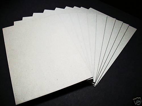 Buchbinder-Pappe-/Graupappe-2,5 mm für DIN A4 10 Stück