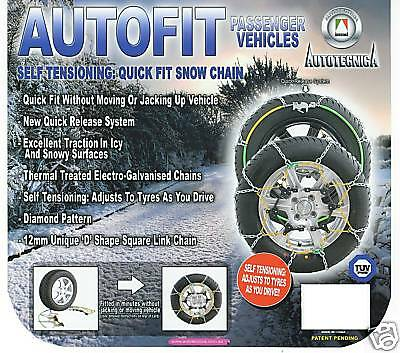 Snow Chains to Fit Subaru Forester with 17 Inch Wheels New 215/65R17