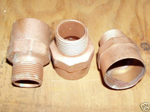 "COPPER 1-1/4"" x 1"" MIP Reducing Male Adapter FITTING"